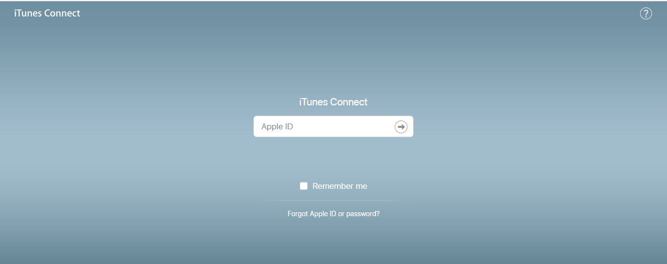 log into itunes connect