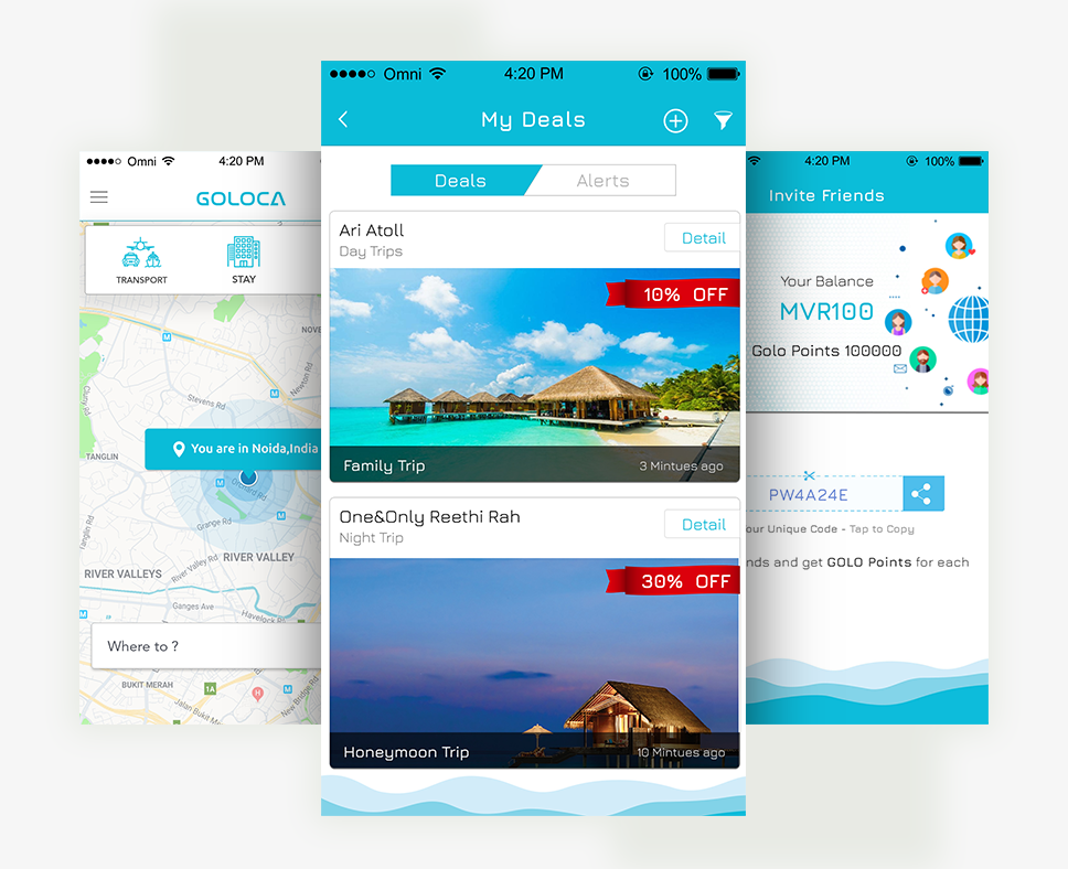 Goloca | Online boat booking app for Maldives